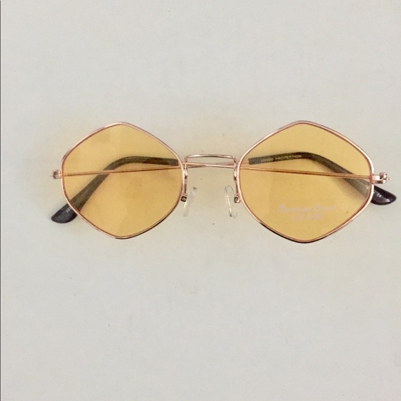 Accessories | Gold Thin Frames And Yellow Lenses | Poshmark